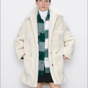 ZARA Teddy Sherpa Coat